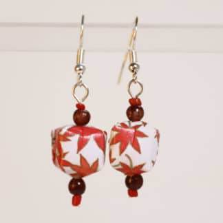 chiyogami origami earrings