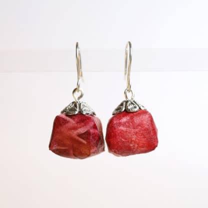 origami solar printed parcel earrings